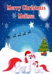 Personalised Cute Unicorns Christmas Card